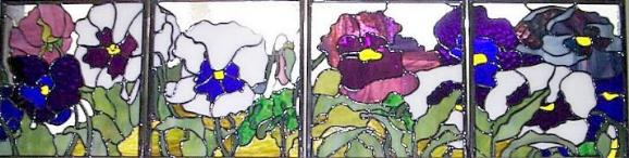 Custom Architectural Floral Stained Glass Etched Glass