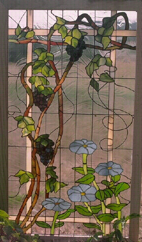 Nature Animals Floral Stained Glass Art Mosaic Etched