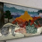 4 Stained Glass Windows in Progress:  The Grand Canyon in 4 Seasons