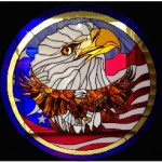 Stunning Stained Glass American Eagle Panel – Entry in Utah State Fair