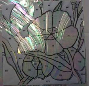Baroque Background Glass Stained Glass Lay-out