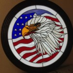 Happy Independence Day! Magnificent Eagle & Flag Stained Glass Panel – Vic Gordon