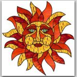 "February 2017 Free Monthly Stained Glass Pattern: ""Sun Suncatcher"""