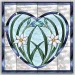 "March-April 2017 Free Monthly Stained Glass Pattern: ""Hearts & Flowers"""