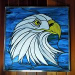 Paned Expressions Stained Glass Pattern Eagle Design Fabricated by Windows of the West in Canada