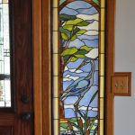 Paned Expressions Stained Glass Pattern Blue Heron Sidelite Fabricated by Steve Fowler, Focal Point Glassworks